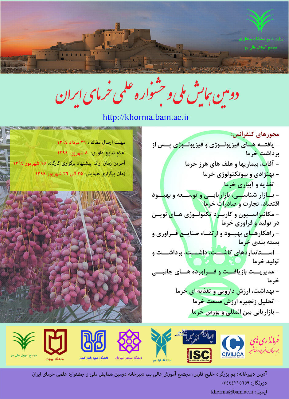 AGRO 2nd Iranian Dates Festival